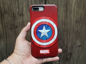 Ốp chống sốc Marvel iPhone 8 Plus (Captain)